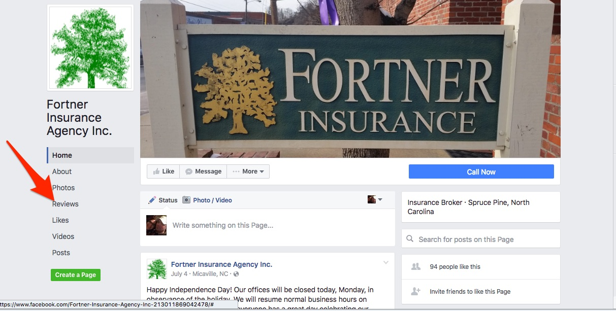 facebook-reviews-insurance-agent-spruce-pine-nc