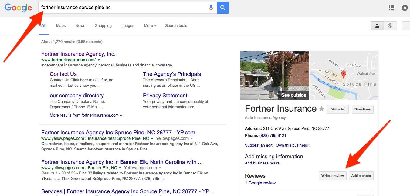 google-review-insurance-agency-blue-spruce-nc